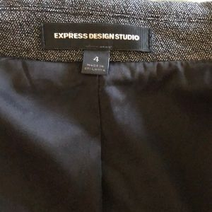 Express Jackets & Coats - Express Suit with Skirt, gray.